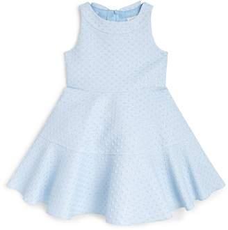 David Charles Jacquard Bow-Embellished Dress