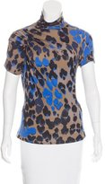 Roberto Cavalli Printed Ruched Top