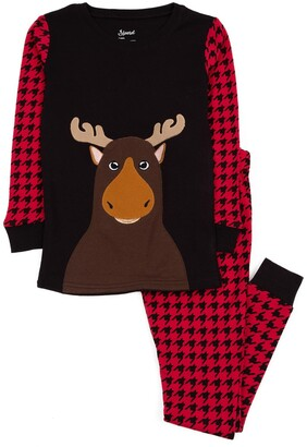 Leveret Moose Pajama Set