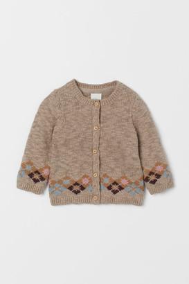 H&M Slub-knit Cardigan - Brown