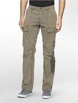 Calvin Klein Mens Slim Straight Military Print Cargo Pants