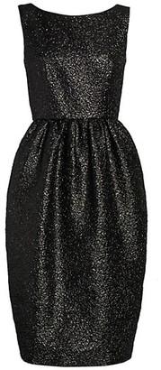 Marc Jacobs Sleeveless Metallic Boatneck Tulip Dress