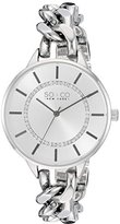 SO&CO New York Women's 5225.1 SoHo Quartz Silver Crystal Accented Dial Stainless Steel Chain-Link Bracelet Watch