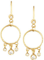 Dominique Cohen 18k Yellow Diamond-Fringed Classic Round Earrings
