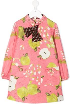 Mi Mi Sol Fruit Print Smock Dress