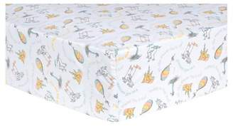 Trend Lab Dr. Seuss by Fitted Crib Sheet - Oh, the Places You'll Go! - Orange Quotes
