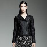 Catherine malandrino for designation faux-leather motorcycle jacket - women's