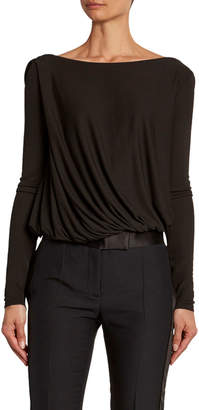 Tom Ford Draped-Front Jersey Bodysuit