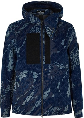 Stone Island Shadow Project Corrosion printed corduroy jacket