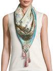 johnny was chapel printed silk scarf