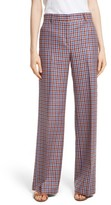 Tory Burch Women's Ainsley Plaid Wide Leg Trousers