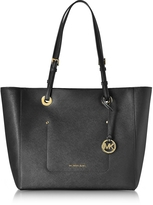 Michael Kors Walsh Large Black Saffiano Leather EW Top-Zip Tote