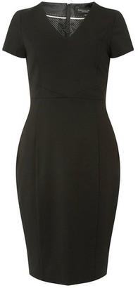 Dorothy Perkins Womens Black Textured Pencil Dress, Black