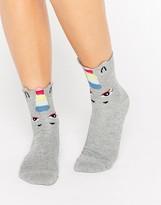 Asos Glitter Unicorn 3D Welt Ankle Socks