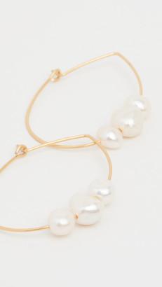 Madewell Keshi Pearl Wire Hoop Earrings
