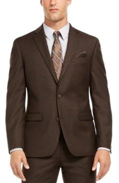 Bar III Men's Slim-Fit Brown Textured Suit Separate Jacket, Created for Macy's