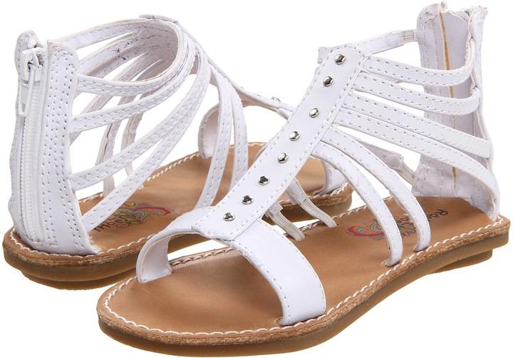 Rachel Lil Whitney (Toddler) (White Smooth) - Footwear