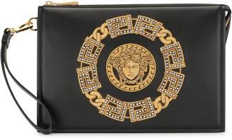 Versace Medusa chain-print clutch bag