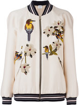 Vilshenko embroidered bomber jacket - women - Silk/Viscose - 6