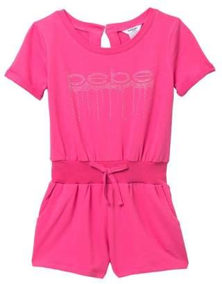 Bebe Knit Logo Romper (Big Girls)