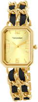 Vernier Gold & Black Double-Chain Bracelet Watch