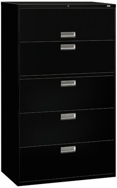 HON Brigade 600 Series 5-Drawer Vertical Filing Cabinet HON