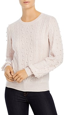C by Bloomingdale's Popcorn Cable Cashmere Sweater - 100% Exclusive
