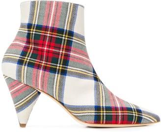 Polly Plume tartan cone-heel boots