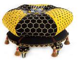 Mackenzie Childs MacKenzie-Childs Honeycomb Footstool