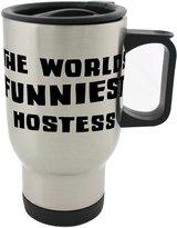 Fotomax THE WORLD'S FUNNIEST Hostess 14oz Stainless Steel mug