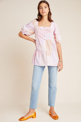 Maeve Gable Tiered Tunic By in Pink Size XS