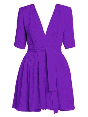 Stella McCartney Belted Silk Mini Dress