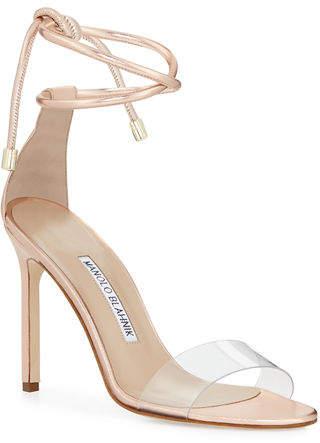 3e2e5270f8 Manolo Blahnik Ankle Wrap Women's Sandals - ShopStyle