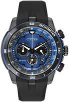 Zales Men's Citizen Eco-Drive® Chronograph Ecosphere Watch with Black Dial (Model: CA4155-12L)