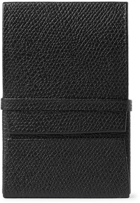 Valextra Pebble-Grain Leather Business Card Holder