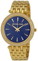 Michael Kors Darci MK3406 Gold Tone Stainless Steel with Blue Dial 39mm Womens Watch