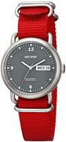 Jack Spade Men's WURU0030 Conway Stainless Steel Watch with Red Canvas Strap