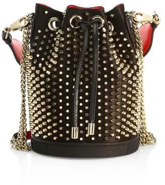 Christian Louboutin Marie Jane Studded Leather Bucket Bag