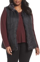 Gallery Plus Size Women's Reversible Faux Fur Vest