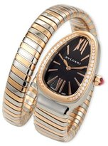 Bvlgari 35mm Serpenti Tubogas Diamond Watch, Two-Tone/Black