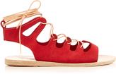 Ancient Greek Sandals Antigone suede lace-up sandals