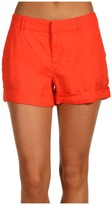 Joie Alexandria B Linen Cuffed Short (Coral) - Apparel