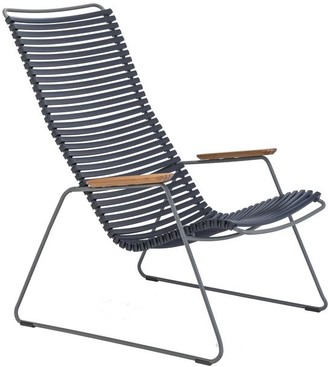 Ecc Lighting & Furniture Click Outdoor Lounge Chair Dark Navy