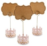 Kate Aspen Little Princess Crown Place Card Holders - Pink (Set of 12)