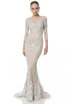 Terani Couture Illusion Lace Mermaid Gown 1613E0355B