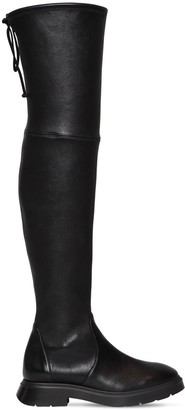 Stuart Weitzman 10mm Kristina Stretch Leather Boots