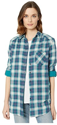 Pendleton Eva Tunic (Indigo/Teal Multi) Women's Clothing