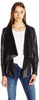 Levi's Women's Faux Leather Cascade Front Jacket