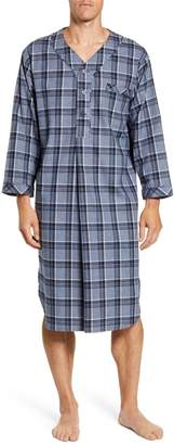 Majestic International Plaid Cotton Flannel Nightshirt