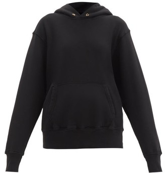 LES TIEN Loop-back Cotton Hooded Sweatshirt - Black